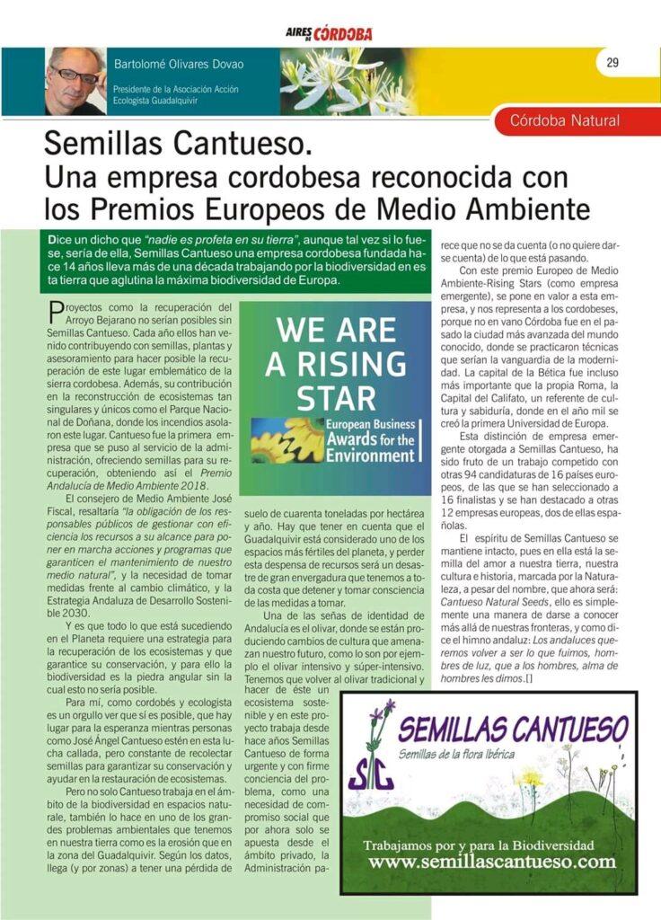 Mención en Aires de Córdoba - CANTUESO - Natural Seeds